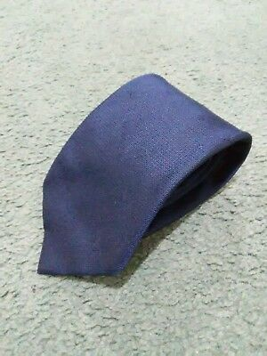 9a714088b7d Louis Vuitton 100% Silk Blue Signature Neck Tie Made In Italy Authentic VGC