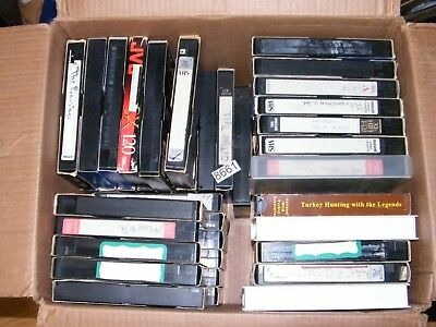 51 VHS Tapes Used Mixed Blank Tapes VCR Prerecorded Sold As Blank Various Brands