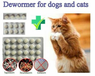 4-24 Tabs Dose Easy Wormer Dog Cat Worm Worming Tablets Roundworm Tapeworm