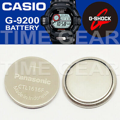 Casio G-Shock G-9200 Solar Ctl1616F Rechargeable Battery / Panasonic Capacitor