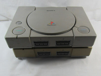 Original Sony Playstation PS1 Consoles Lot of 2 Non-Working For Parts