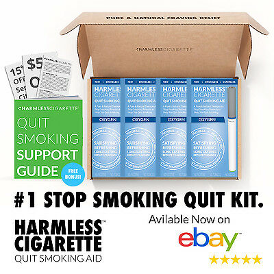 Harmless Cigarette Natural Stop Smoking Aid Satisfying Oxygen Flavored 4 Pack