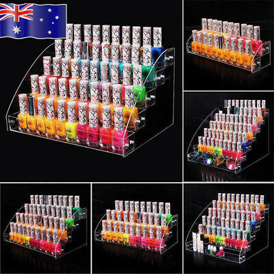 AU 7Tier Nail Polish Display Rack Stand Holder Makeup Jewelry Organizer Storage