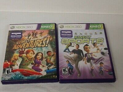 XBox 360 Kinect Games - Lot of Two (2) - Kinect Adventures and Kinect Sports