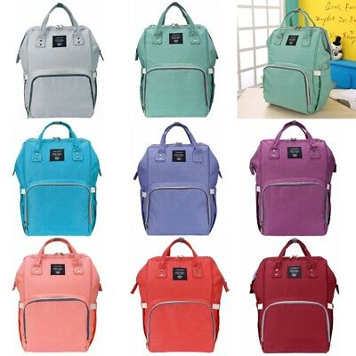 Mommy Backpack Diaper Bags Waterproof Large Capacity Baby Nappy Changing Handbag