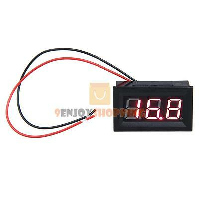 "0.56"" DC 3.2-30V Ammeter Red LED Amp Two-wire Volt Meter Gauge Digital Voltmeter"