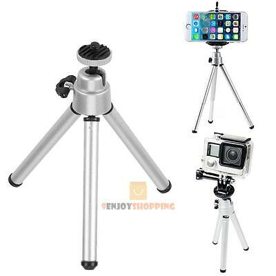 Mini Portable Aluminum Alloy Tripod Stand Holder for Camera GoPro Cell Phone New
