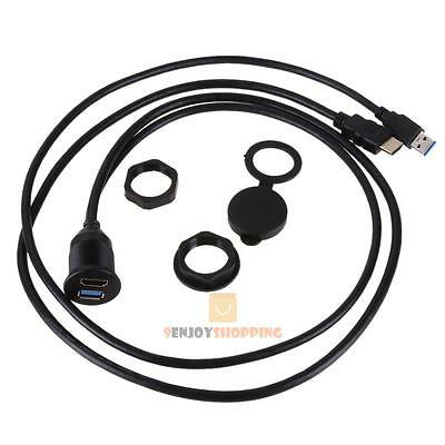 1m 3ft Dual Usb Extension Panel Flush Mount Extender Cable For Car