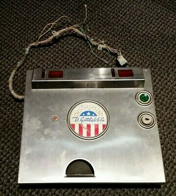 GOTTLIEB METAL PINBALL Cabinet Coin Door w/ Start Button & Wiring Harness  AS-IS