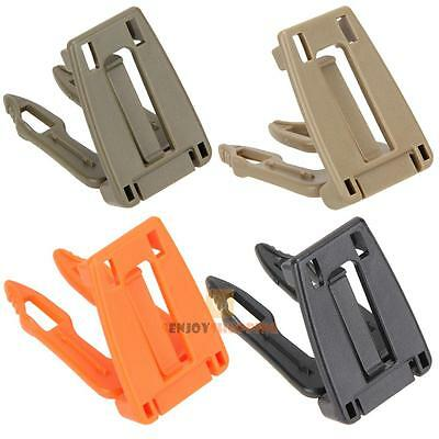 5pcs Tactical Molle Strap EDC Backpack Bag Webbing Connecting Buckle Clip 25mm