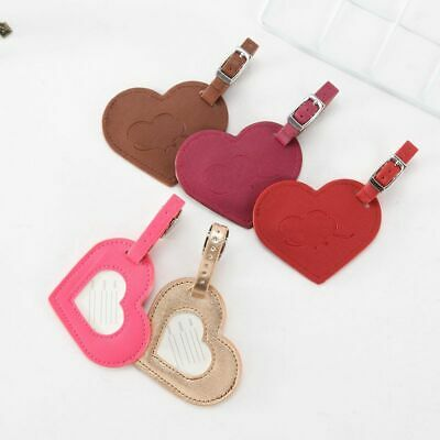 Creative Love shape Luggage Tag Leather Travel Accessories