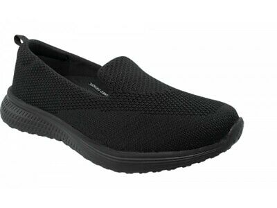 Orthaheel Scholl Orthotic Womens Emerge Slip On Walking Shoe - Black
