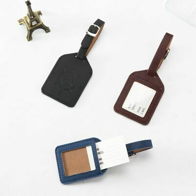 Creative Compass pattern Luggage Tag Leather Travel Accessories
