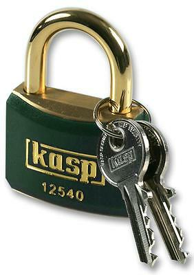 PADLOCK BRASS 40MM GREEN Security Locks