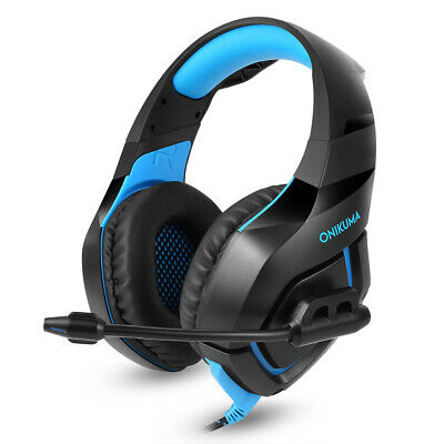ONIKUMA K1 Stereo Bass Surround Gaming Headset Mic for PS4 New Xbox One PC Z9E0