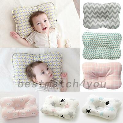 Newborn Baby Infant Cotton Pillow Positioner Prevent Flat Head Anti Roll