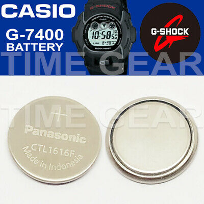 Casio G-Shock G-7400 Solar Ctl1616F Rechargeable Battery / Panasonic Capacitor