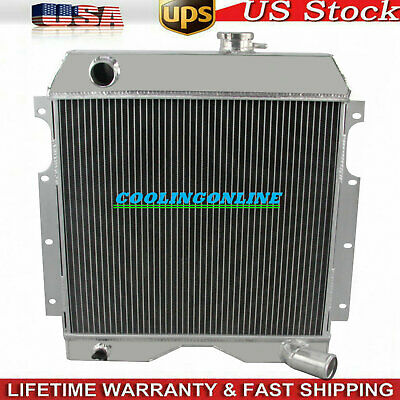 Aluminum 3 Row Performance Radiator for 54-64 Jeep Truck//Utility//Willys//6-226