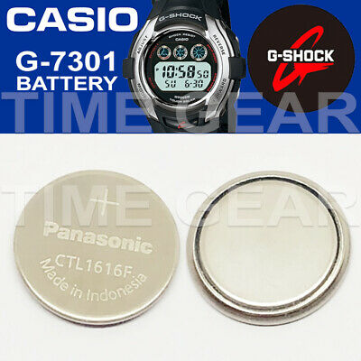 Casio G-Shock G-7301 Solar Ctl1616F Rechargeable Battery / Panasonic Capacitor