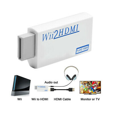 Wii zu HDMI Full HD 1080P / 720P-Konverter für Upscaling-Adapter Audio