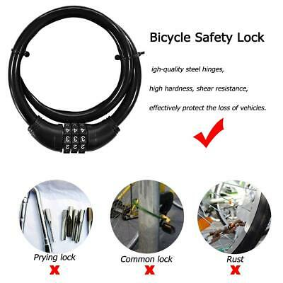 Bicycle Code Pword Bike Combination Cable Lock Steel Wiring Anti Theft