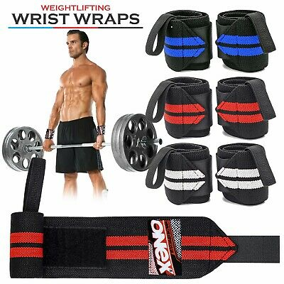 Weight Lifting Wrist Wraps Hand Support Gym training Strap body building gloves.