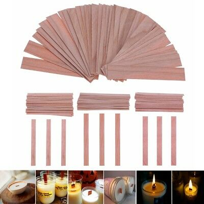 50pcs Wood Wicks/iron Base Clip for Candles Soy Palm Candle DIY Making Supplies
