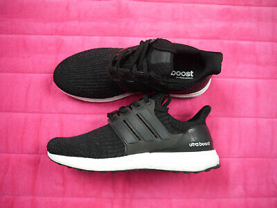 56c9eabec51c2 Adidas Ultra Boost 3.0 Core Black White Size 8 Running Sneakers BA8842