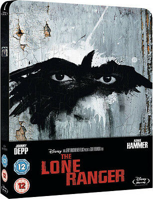 The Lone Ranger - Limited Edition Steelbook Blu-ray / Disney (Johnny Depp) OOP