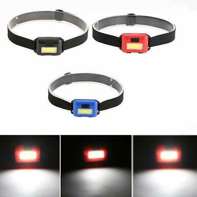 3 Modes Mini COB LED Headlamp Headlight Head Flashlight Torch Camping Fishing US