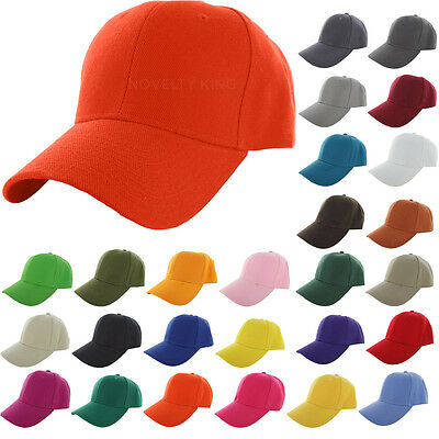 Plain Fitted Golf Baseball Cap Curved Visor Blank Solid Color Convenient Hat NG2