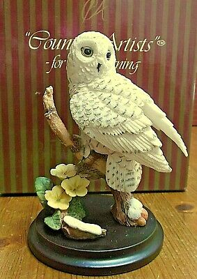 RARE Country Artists - Broadway Birds - Snowy Owl with Primrose Figurine BOXED