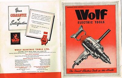 Vintage  WOLF electric tools catalogue