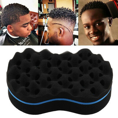 Cleaning Appliance Parts Hard-Working High Quality Double Sided Barber Hair Brush Sponge Dreads Locking Twist Coil Afro Curl Wave