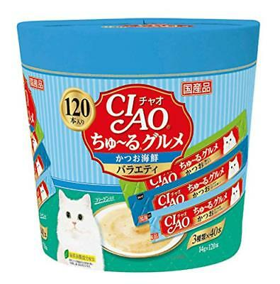 Chao (Ciao) Ju-Ru Gourmet for Cats And Seafood Variety 14g×120 Bottles FREE Ship