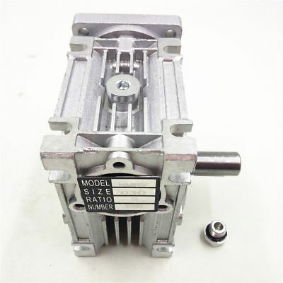 10:1 Worm Gearbox NMRV030 Gear Speed Reducer Geared Head NEMA23 Flange Motor,DHL