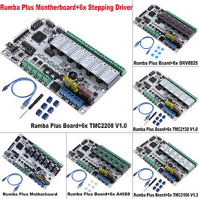 Rumba Plus Motherboard+6x TMC 2208/2130/2100 Stepping Drive Module fr 3D Printer