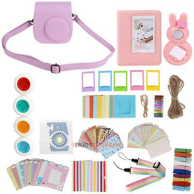 11 in 1 Instant Film Camera Accessories Bundles for Fujifilm Instax Mini 8 Pink