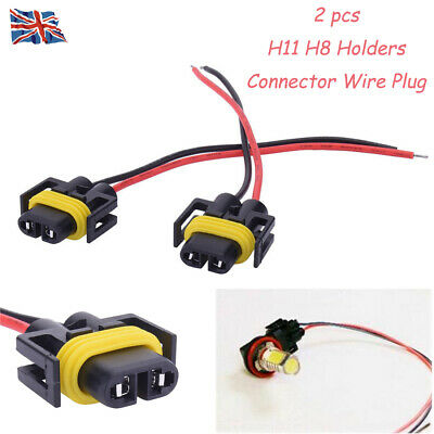 2pcs H8 H11 BULB HOLDERS CONNECTOR WIRE PLUG FIT FOR Fog Light or Headlight