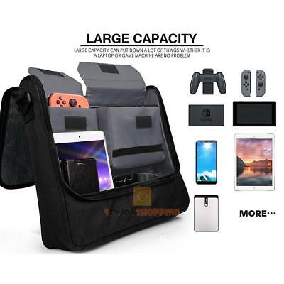 Travel Messenger Shoulder Storage Bag for Nintendo Switch Console & Accessories