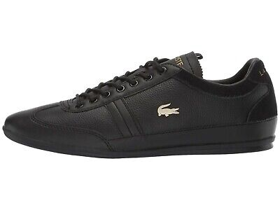 b0a139f50 LACOSTE MISANO 119 Black Men s Leather Lace Up Sneakers 37CMA008302H ...