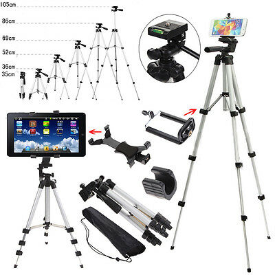 Professional Camera Tripod Stand Mount Holder for Phone ipad Samsung Tablet PC