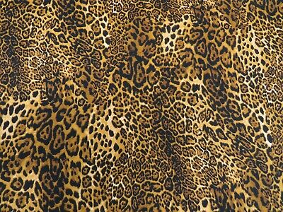 Designer ROSE   HUBBLE 100% COTTON Animal Skin LEOPARD PRINT FABRIC MATERIAL 6b8202793
