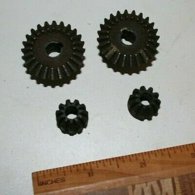 Bevel gear set X 2 -model engineer - large one is ~31mm, small is ~15mm, ferrous