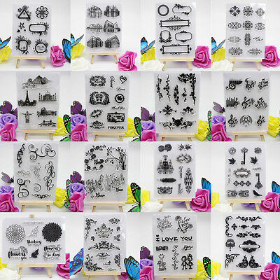 Alphabet Transparent Silicone Clear Rubber Stamp Sheet Cling Scrapbooking DIY x0