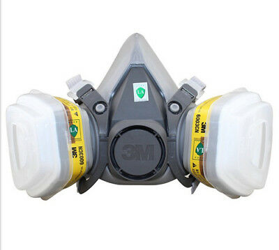 For 3M 6200 6003 7pcs Suit Respirator Painting Spraying Face Gas Mask 5N11 501