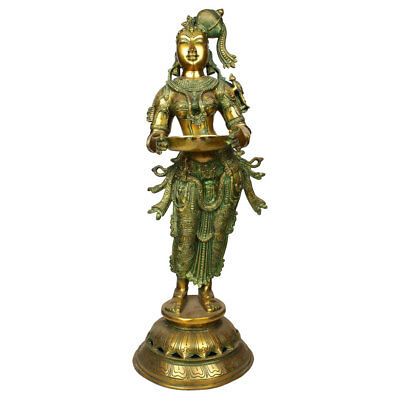 Large Apsara Entrance Diwali Fengshui Vastu Decor Deeplaxmi Statue 2.5 Feet