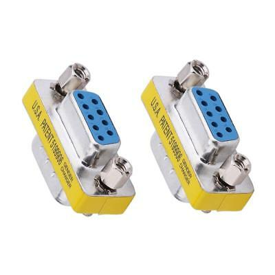 2pcs DB9 VGA 9pin/15pin Male to Male Female Gender Changer Couplers Extenders