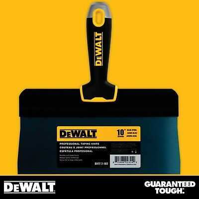 "DEWALT Taping Knife 10"" Premium Blue Steel Big Back Drywall Taping Tool"