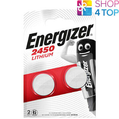 2 Energizer Cr2450 Lithium Batteries 3V Coin Cell Dl2430 Br2430 Exp 2025 New